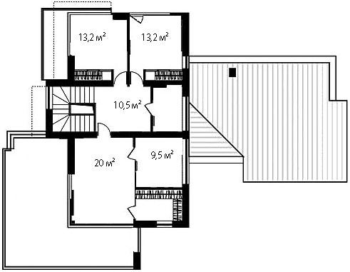 План второго этажа 75