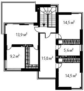 План второго этажа 79