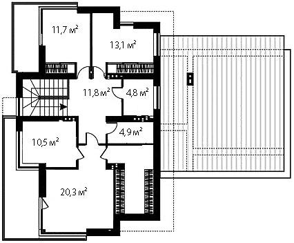 План второго этажа 80