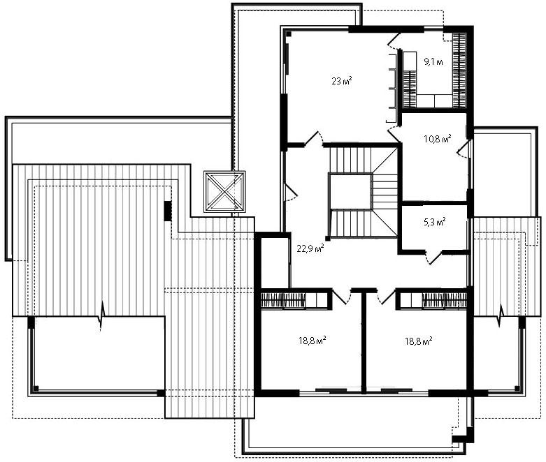 План второго этажа 83
