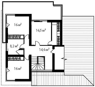 План второго этажа 86
