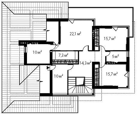 План второго этажа 89