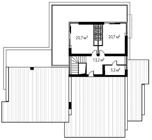 План второго этажа 91