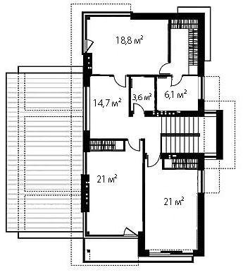 План второго этажа 96