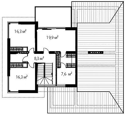 План второго этажа 98