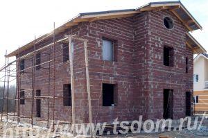 Строительство коттеджа в Лен области по проекту