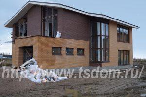 Строительство коттеджа в Лен области по проекту от компании Техстройдом